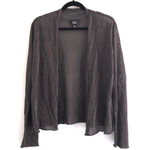 eileen fisher Brown Sparkle Open Front Cardigan